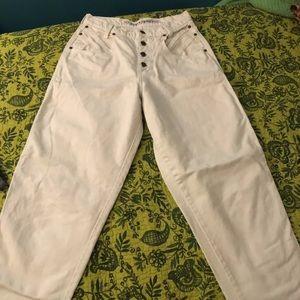 Vintage Zena White High Waist Mom Jeans